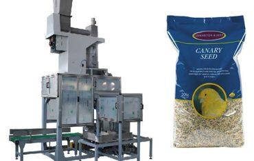 20 kg zrna obilí otevřené ústa pytlování a tašky plnění váhy