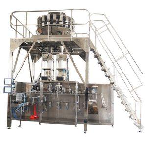Horizontální předem připravený balicí stroj s vícecestnými váhy pro granule