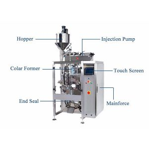 Vertikální forma Plnicí pečetní stroj s plnicí náplní pro kapalinu